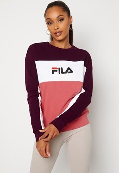 FILA Amina Blocked Crew Sweat B449 Rose,WB, BW Bubbleroom.se