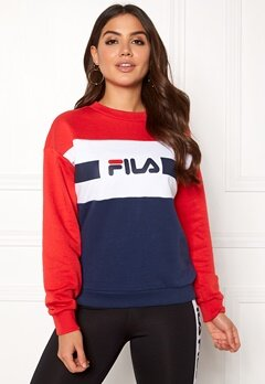FILA Angela Crew Sweat Bright White Bubbleroom.se
