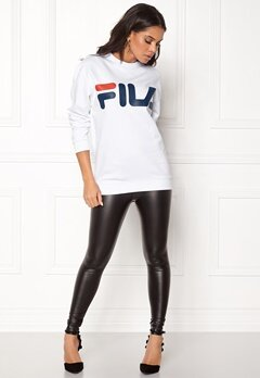 FILA Basic Classic Logo Sweat Bright White Bubbleroom.se