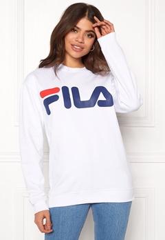 FILA Basic Classic Logo Sweat Bright White Bubbleroom.se