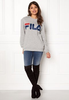 FILA Basic Classic Logo Sweat Light Grey Bubbleroom.se