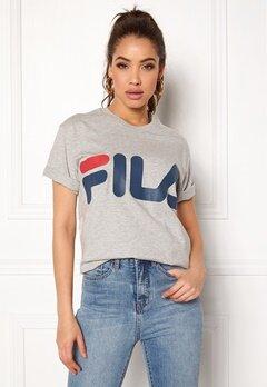 FILA Basic Classic Logo Tee Light Grey Melange Bubbleroom.se