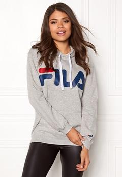 FILA Classic Logo Hood Kangaro Light Grey Melange Bubbleroom.se