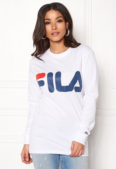 FILA Classic Logo Long Sleeve Bright White Bubbleroom.se