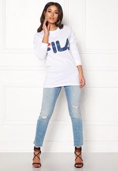 FILA Classic Logo Long Sleeve Bright White Bubbleroom.fi
