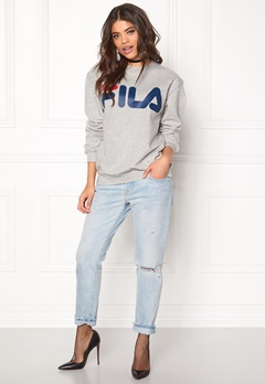 FILA Classic Logo Sweat Light Grey Melange Bubbleroom.fi