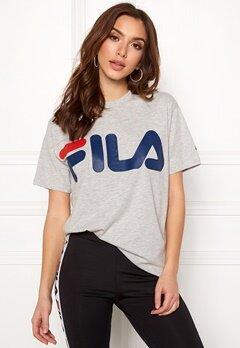 FILA Classic Logo Tee Light Grey Melange Bubbleroom.se