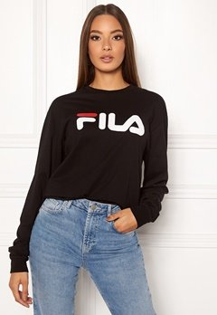 FILA Classic Pure Long Sleeve Shirt 002 Black Bubbleroom.se