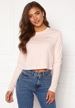 FILA Eaven Cropped LS Shirt A643 English Rose Bubbleroom.se