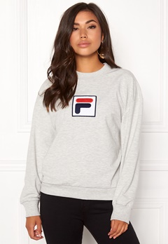 FILA Erika Crew Sweat Light Grey Melange Bubbleroom.se