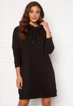 FILA Teofila Oversized Hoody Dress 002 black Bubbleroom.se