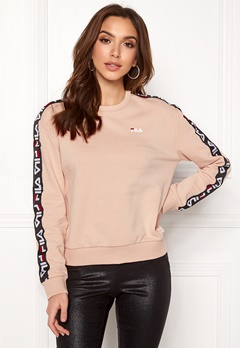 FILA Tivka Crew Sweat Cameo Rose Bubbleroom.se