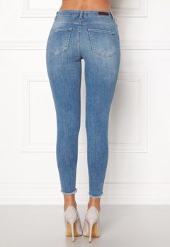 Pieces Five Delly B186 MW Jeans Light Blue Denim Bubbleroom.fi