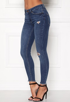 Pieces Five Delly Cropped Jeans Medium Blue Denim Bubbleroom.fi