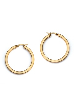 WOS Flat Gold Hoops Earrings Guld Bubbleroom.se