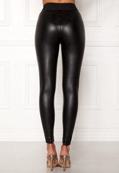 ONLY Flirt PU Leggings Ankel Black Bubbleroom.se