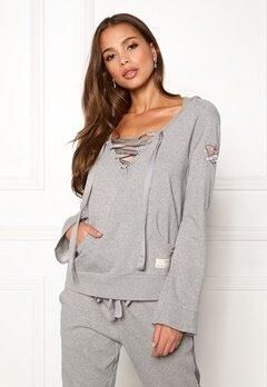 Odd Molly Flying High Hood Sweater Light Grey Melange Bubbleroom.se