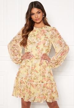 FOREVER NEW Katie Tiered Skater Dress Vintage Lemon Floral Bubbleroom.se