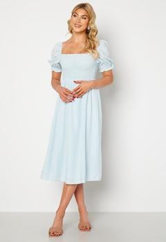 FOREVER NEW Puff Sleeve Dress Eggshell Blue Bubbleroom.se