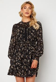 FOREVER NEW Sutton Lace Skater Dress Black Jasmine Bubbleroom.se