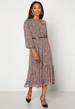 FOREVER NEW Tammy Tiered Midi Dress Ribena Brushed Spot Bubbleroom.se