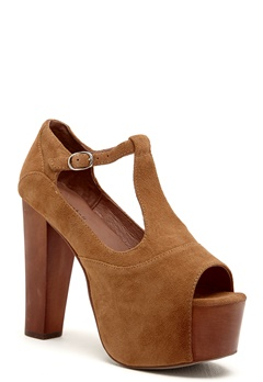 Jeffrey Campbell Foxy WD Shoes 250 Camel Suede Bubbleroom.fi