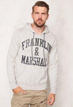 Franklin & Marshall Fleece Fleece Hoode Sport Grey Mel Bubbleroom.se