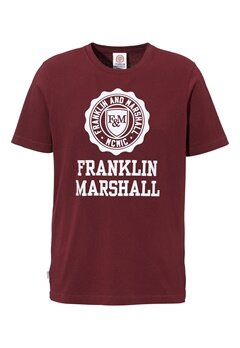 Franklin & Marshall Jersey T-Shirt 656 Bordeaux Bubbleroom.se