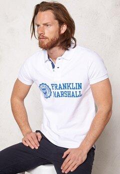 Franklin & Marshall Polo Piquet Classic White Bubbleroom.se
