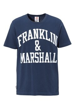 Franklin & Marshall T-Shirt 167 Navy Bubbleroom.no