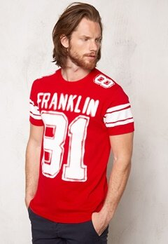 Franklin & Marshall Tshirt Jersey Round Comets Red Bubbleroom.se