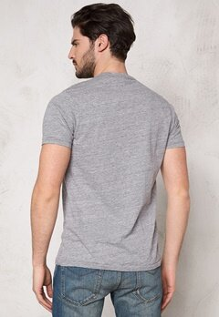 Franklin & Marshall Tshirt Jersey Round Sport Grey Mel Bubbleroom.se