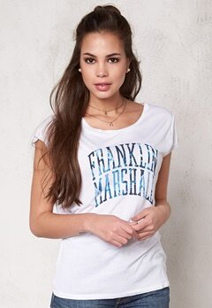 Franklin & Marshall Tshirt Jersey Round White Bubbleroom.no