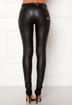 FREDDY WR.UP Shaping LW Legging Black Eco Leather Bubbleroom.se