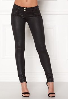 FREDDY Skinny Shaping RW Legging Coated Black New Sty Bubbleroom.fi