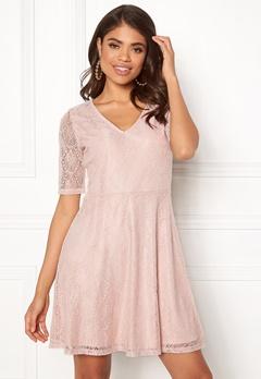 VILA Frej 2/4 Short Dress Peach Blush Bubbleroom.se