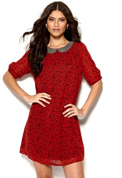 MAISON SCOTCH French Dress B Red Bubbleroom.se