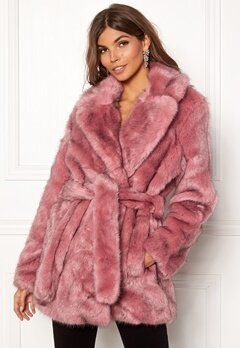 SELECTED FEMME Fury Faux Fur Earth Red Bubbleroom.se