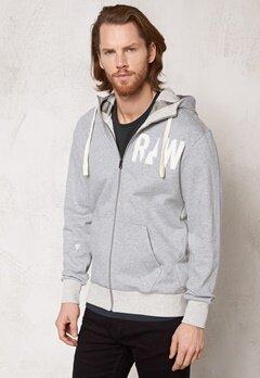 G-STAR Grount Hooded Vest sw l/s grey htr Bubbleroom.se