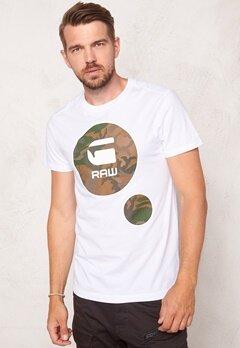 G-STAR Warth s/s T-shirt White Bubbleroom.no