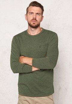 G-STAR Yedur Pocket l/s T-shirt dk Bronze Green Bubbleroom.no