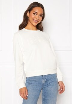 GANT Arch Logo C-Neck Sweat 113 Eggshell Bubbleroom.se