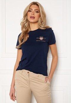 GANT Archive Shield SS T- Shirt 433 Evening Blue Bubbleroom.se