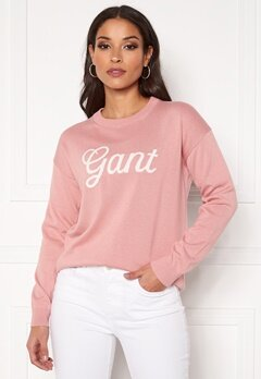 GANT Gant Logo Crew 659 Summer Rose Bubbleroom.se