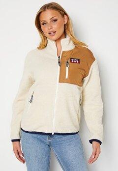 GANT Gant Retro Logo Fleece Jacket 115 Offwhite Bubbleroom.se