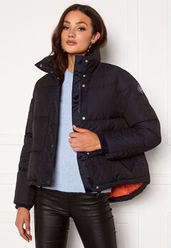 GANT Jacquard Gant Word Down Jacket 433 Evening Blue Bubbleroom.se