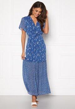 GANT Mix Print Chiffon Dress 449 Bright Cobalt Bubbleroom.se
