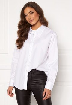 GANT Oversized Collar Relaxed Shirt 100 White Bubbleroom.se