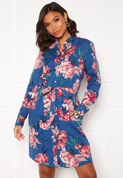 GANT Peonies Print Shirt Dress 449 Bright Cobalt Bubbleroom.se