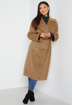 GANT Wool Blend Belted Coat 213 Warm Khaki bubbleroom.se